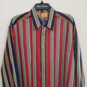 Robert Graham Pin Stripe Long Sleeve Button Up